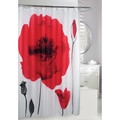 Poppy Explosion Fabric Shower Curtain | Moda at Home