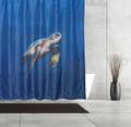 Sea Turtle Fabric Shower Curtain | Moda at Home