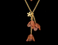 """Apple Blossom 18"""" Drop Layer Necklace 