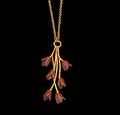 "Apple Blossom 24"" Branch Pendant Necklace | Nature Jewelry | Michael Michaud | 9275BZ"
