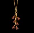 "Apple Blossom 24"" Branch Pendant Necklace   Nature Jewelry   Michael Michaud   9275BZ"