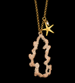 "Coral Reef 24"" Pendant Necklace 