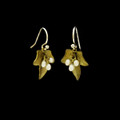 Ivy Leaf Wire Earrings | Nature Jewelry | Michael Michaud | 3550BZ
