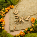 """Leaf Tapestry 16"""" Statement Necklace 