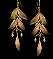 Leaf Tapestry Statement Wire Earrings | Nature Jewelry | Michael Michaud | 3545BZ