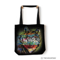 "Painted Wolf 18"" Tote Bag 