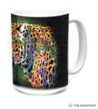 Painted Cheetah 15oz Ceramic Mug | The Mountain | Cheetah Mug