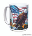 American Eagle Flag 15oz Ceramic Mug | The Mountain | 57619709011 | Bald Eagle Mug