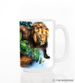 Big Jungle Cats 15oz Ceramic Mug | The Mountain | 57331509011 | Leopard Mug | Lion Mug | Tiger Mug | Panther Mug