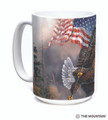 Flag-Bearing Eagle 15oz Ceramic Mug | The Mountain | 57595809011 | Bald Eagle Mug
