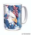 Allegiance Eagles American Flag 15oz Ceramic Mug   The Mountain   57484109011   Eagle Mug