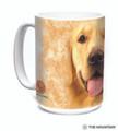 Big Face Golden Retriever 15oz Ceramic Mug | The Mountain | 57402309011 | Golden Retriever Mug