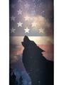 Patriotic Wolf Howl Stainless Steel 17oz Travel Mug | The Mountain | 5959711 | Wolf Travel Mug