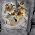 Hide and Seek Red Fox Unisex Hoodie | The Mountain | 726393 | Fox Sweatshirt