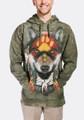 Native Wolf Spirit Unisex Hoodie | The Mountain | 724022 | Wolf Sweatshirt