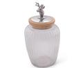 Deer Elk Glass Canister Set of 3 | Arthur Court Designs | 15SSB2