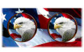 Eagle with Flag 15oz Ceramic Mug   Bald Eagle Mug   CMGWHB3132