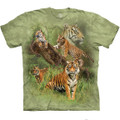 Wild Tiger Collage Unisex Cotton T-Shirt | The Mountain | 105888 | Tiger T-Shirt