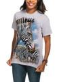 Zebra Portrait Unisex Cotton T-Shirt | The Mountain | 105965 | Zebra T-Shirt