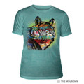 Painted Wolf Teal Unisex Tri-Blend T-Shirt | The Mountain | 5463200744 | Wolf T-Shirt