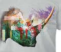 Painted Rhino Grey Unisex Tri-Blend T-Shirt | The Mountain | 5463250748 | Rhino T-Shirt