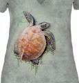 Sea Turtle Climb Women's Tri-Blend V-neck T-Shirt   The Mountain   415947   Sea Turtle T-Shirt