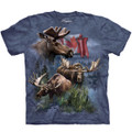 Canadian Moose Collage Unisex Cotton T-Shirt | The Mountain | 106124 | Moose T-Shirt