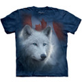 Canadian White Wolf Unisex Cotton T-Shirt | The Mountain | 106122 | Wolf T-Shirt