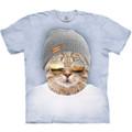 Cool Hipster Cat Unisex Cotton T-Shirt   The Mountain   105948   Cat T-Shirt