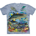 Reef Sharks Unisex Cotton T-Shirt | The Mountain | 105943 | Shark T-Shirt