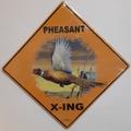 Pheasant Barn Metal Crossing Sign | Pheasant Barn X-ing Sign | MXSHB1026