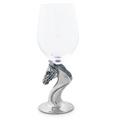 Horse Head Pewter Stem Wine Glass   Vagabond House   H444EQ