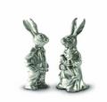 Dressed Rabbits Pewter Salt Pepper Shakers | Vagabond House | R116B