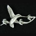 Hummingbird Pewter Pin | Andy Schumann | SCHHUMMPIN