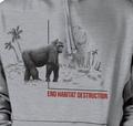 Gorilla Habitat Unisex Hoodie | The Mountain | 725578 | Gorilla Sweatshirt