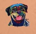 Happy Rottweiler Unisex Cotton T-Shirt | The Mountain | 106487 | Rottweiler T-Shirt
