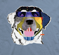Laughing Labrador Unisex Cotton T-Shirt | The Mountain | 106489 | Labrador T-Shirt