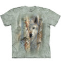 Focused Wolf Unisex Cotton T-Shirt | The Mountain | 106423 | Wolf T-Shirt