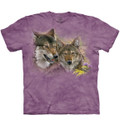 Spring Wolves Unisex Cotton T-Shirt | The Mountain | 106422 | Wolf T-Shirt