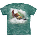 Surfin Sea Turtle Unisex Cotton T-Shirt | The Mountain | 106453 | Turtle T-Shirt
