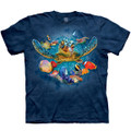 Sea Turtle Tiny Bubbles Unisex Cotton T-Shirt | The Mountain | 106454 | Turtle T-Shirt
