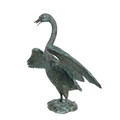 Swan Bronze Fountain Statue   Metropolitan Galleries   SRB47183