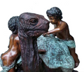 Boys on Turtle Bronze Fountain Statue | Metropolitan Galleries | SRB707185