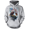American Flag Eagle Adult Unisex Hoodie | The Mountain | 726197 | Bald Eagle Sweatshirt