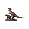 Dinosaur and Baby Bronze Statue with Marble Base | Metropolitan Galleries | SRB049009