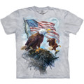 American Eagle Flag Unisex Cotton T-Shirt | The Mountain | 106197 | Eagle T-Shirt
