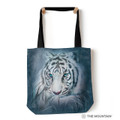 """Thoughtful White Tiger 18"""" Tote Bag 