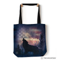 """Patriotic Howl Wolf 18"""" Tote Bag 