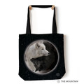 "Yin Yang Wolves 18"" Tote Bag 