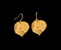 Aspen Leaf Gold Wire Earrings | Michael Michaud | 4519V | Nature Jewelry